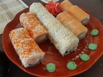 Russian sushi royalty free stock photography