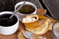 Russian sweet cheese danish. Close up, horizontal Royalty Free Stock Images