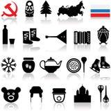 Russian Symbols Icon Set. Vector Illustration