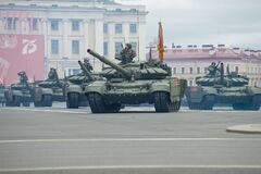 Free Russian T-72B3 Tanks On The Military Parade Stock Image - 188133691