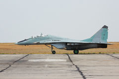 Russian tactical jet fighter MIG-29 on the ground Stock Photos