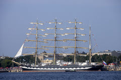 Russian tall ship Kruzenshtern Royalty Free Stock Image