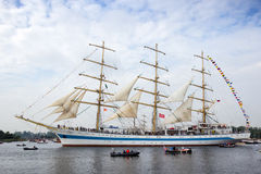 Russian tallship STS Mir Stock Images