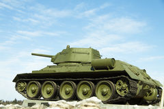 Russian tank. The outstanding Russian tank of t-34.этот the tank became one of the main symbols of World War II voyny.t-34 it is the tank the winner Stock Image