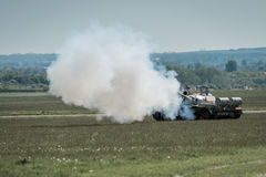 Russian Tank firing gun Royalty Free Stock Image