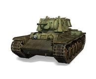Russian Tank KV-1. Illustration of a Russian tank from World War 2 isolated on a white background Stock Photos