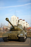 Russian tank - memorial to the victory in the WWII Royalty Free Stock Photo