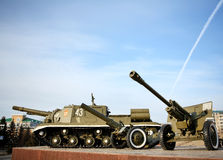 Russian tank - memorial to the victory in the WWII Royalty Free Stock Image