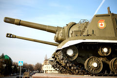 Russian tank - memorial to the victory in the WWII Royalty Free Stock Photos