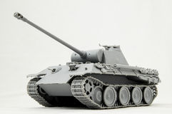 Russian Tank. The Model Tank King Tiger 2 of WW2 on a White Background Stock Photography