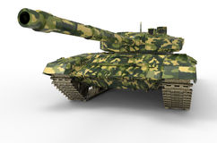 Russian Tank near isolated Royalty Free Stock Image