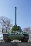 The Russian tank on a pedestal Royalty Free Stock Images