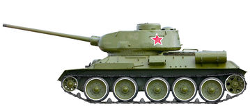Russian tank T-34 from World War II Stock Image