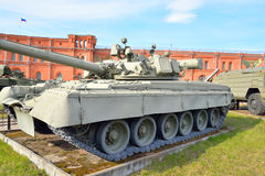 Russian tank T-80 in Military Artillery Museum. Russian tank T-80 in Military Artillery Museum in St.Petersburg, Russia Royalty Free Stock Photo