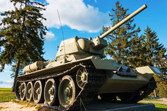 Russian tank T-34-76. The old Soviet T-34-76 at Stalin Line museum Royalty Free Stock Images