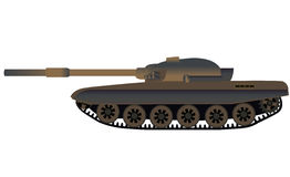 Russian tank T-72 side view. Vector illustration Stock Images