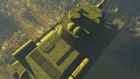 Russian Tank T 34 Top view stock video