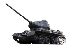 Russian Tank T34. T-34/76A was a Soviet medium tank.  It is one of the most effective, efficient, and influential design of World War II. Path included Stock Image