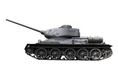 Russian Tank T34. T-34/76A was a Soviet medium tank.  It is one of the most effective, efficient, and influential design of World War II. Path included Royalty Free Stock Image