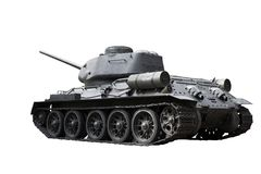 Russian Tank T34. T-34/76A was a Soviet medium tank.  It is one of the most effective, efficient, and influential design of World War II. Path included Stock Photo