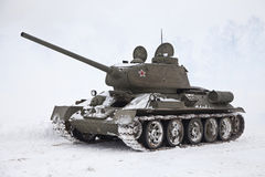 Russian Tank T34 Royalty Free Stock Images