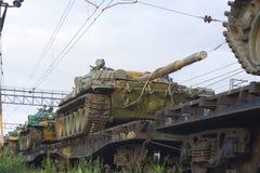 Russian tanks stock image