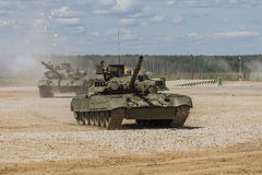Russian tanks on demonstrations Royalty Free Stock Photos