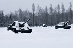 Russian  Tanks Stock Photography