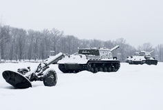 Russian  Tanks Royalty Free Stock Photography