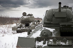 Russian Tanks T34 Royalty Free Stock Photos