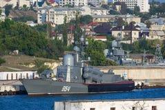 Russian Tarantul-class of missile corvette Stock Photos