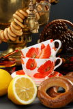 Russian tea. Royalty Free Stock Image