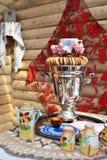 Russian tea drinking Royalty Free Stock Photo