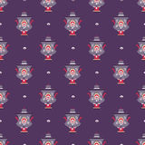 Russian tea pot symbol seamless pattern Royalty Free Stock Photo