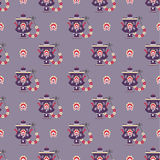 Russian tea pot symbol seamless pattern Royalty Free Stock Photography