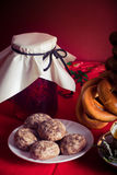 Russian tea table Royalty Free Stock Photos