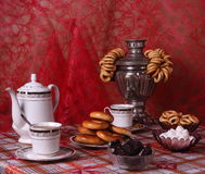Russian tea table Stock Image