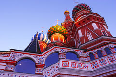 Russian temple in the city of Moscow. Russian religious temple Royalty Free Stock Photo