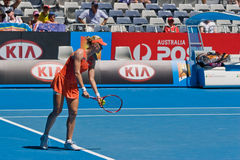 Russian tennis player Elena Dementieva Royalty Free Stock Photography