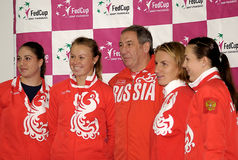 Russian tennis team-1 Royalty Free Stock Image