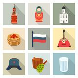Russian theme icon set Stock Photography