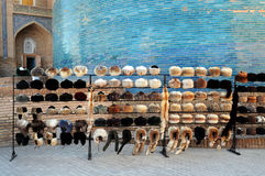 RUSSIAN TOQUES IN KHIVA UZBEKISTAN Stock Photography
