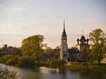 Russian Town. View of the Small Russian province town royalty free stock images