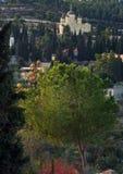 Russian town church in Jerusalem, Israel Stock Photos