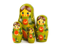 Russian toy matrioska. Isolated on white background Royalty Free Stock Photography