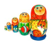 Russian toy matrioska. Isolated on white background Stock Images