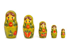 Russian toy matrioska. Isolated on white background Royalty Free Stock Photo