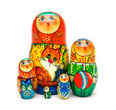 Russian toy matrioska. Isolated on white background Stock Photo