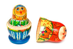 Russian toy matrioska. Isolated on white background Royalty Free Stock Image