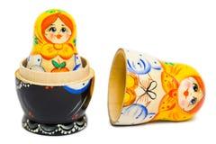 Russian toy matrioska. Isolated on white background Royalty Free Stock Photos